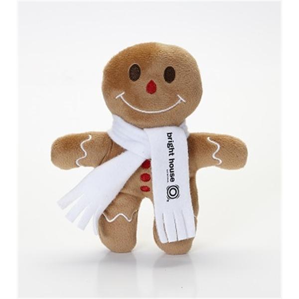 Gingerbread Man Stuffed Toy - Custom gingerbread man shaped stuffed toy.