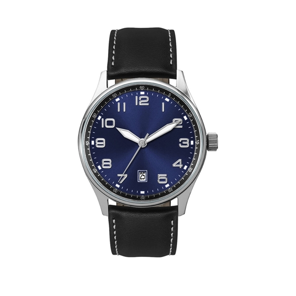 Unisex Watch 41mm Stainless Steel watch with Blue Sunray ...