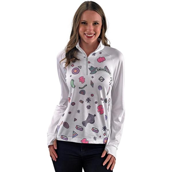 Slim fit Long Sleeve 1/4 Zip Shirt