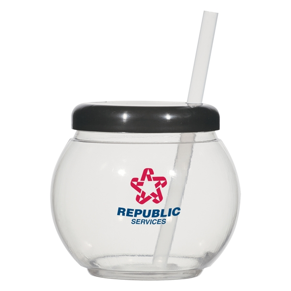 "20 oz. Fish Bowl Cup with Straw - 20 oz. Fish Bowl Cup with 6"" Straw."