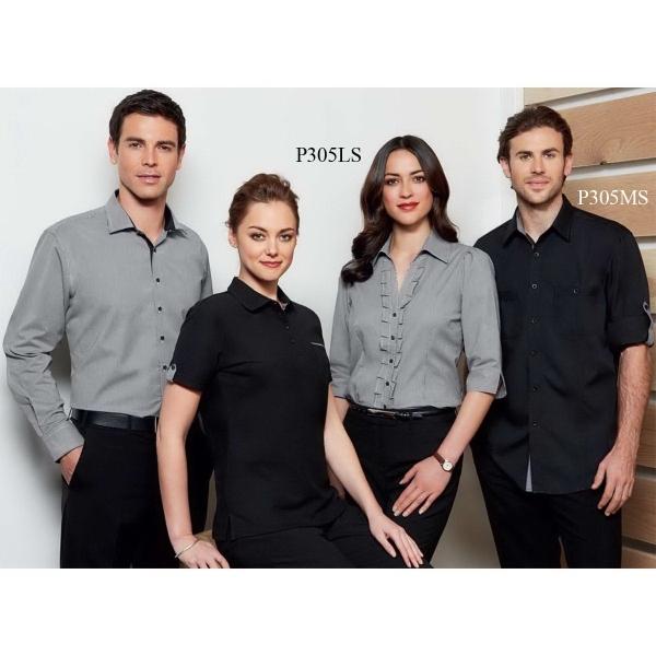 Edge Contrast Check Ladies' Polo Shirt