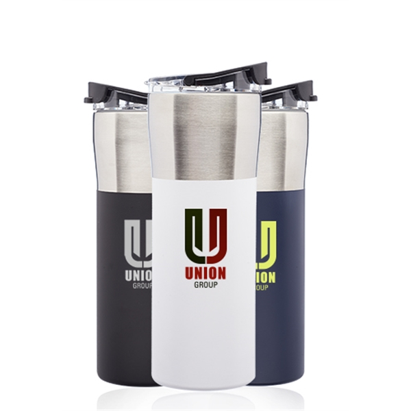 19 oz. Nau Color Grip Travel Mugs with Plastic Lid