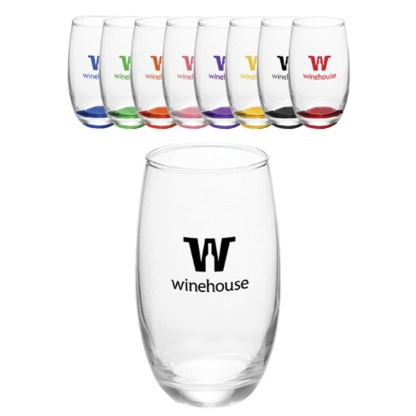 15 oz. Mikonos Clear Stemless Wine Glasses