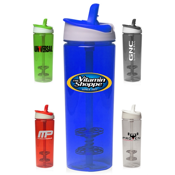 29 oz. Plastic Shaker Bottles with Straw