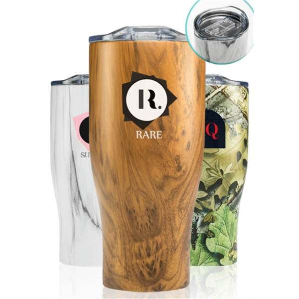 27 oz Stainless Steel Tumblers with Clea