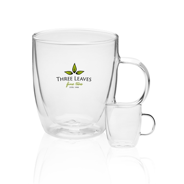 14 oz Crystalite Double Wall Glass Coffe