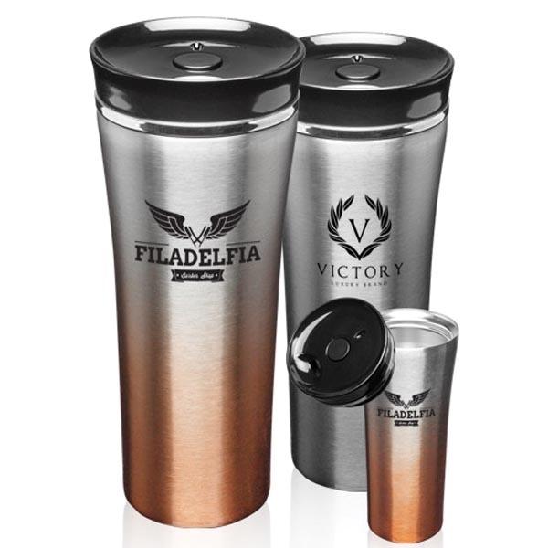 16 oz. Two Tone Stainless Steel Travel Mug