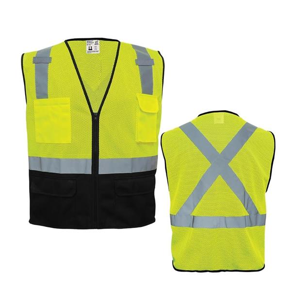 High-Visibility Polyester Safety Vest