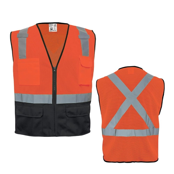 High-Visibility Lightweight Mesh Polyester Safety Vest