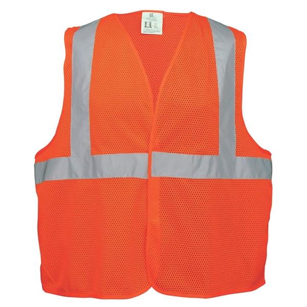Orange High Vis Lightweight Mesh Safety Vest