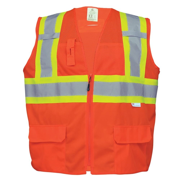 Solid Bottom and Mesh Class 2 Surveyor Vest