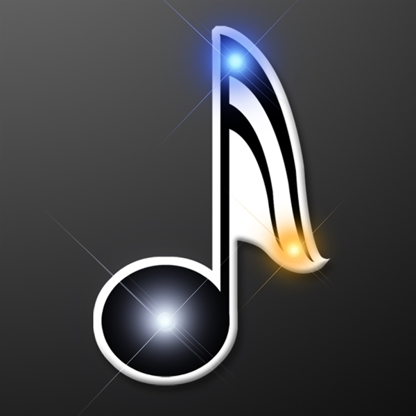 Music magnetic flashing pins
