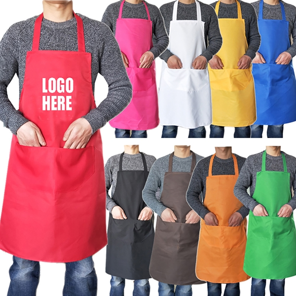 Polyester Apron Adult with 2 Front Pockets