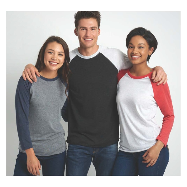 Next Level Apparel Unisex Tri-blend 3/4 Sleeve Raglan Tee