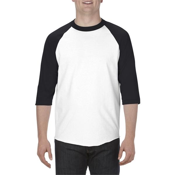 Alstyle Adult 6.0 oz., 100% Cotton 3/4 Raglan T-Shirt