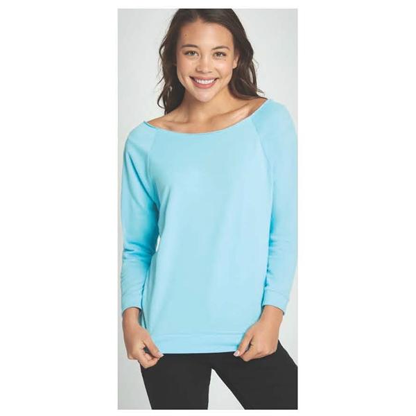 Women's French Terry 3/4 Sleeve Raglan T-Shirt