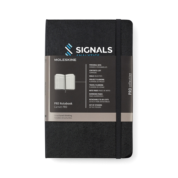Moleskine® Hard Cover Ruled Large Professional Notebook