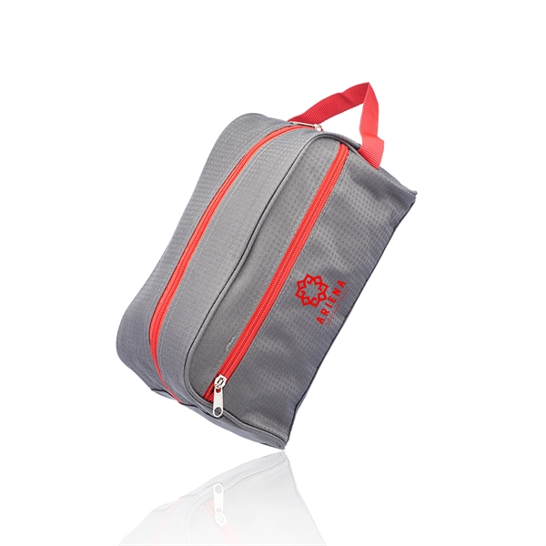 Travel Two Tone Toiletry Bag with Handle