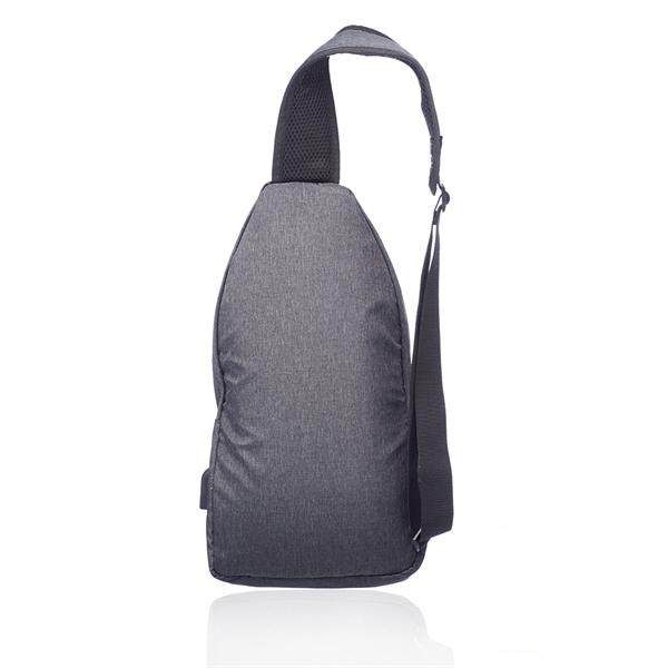 Traveler Shoulder Crossbody Bag with USB Charging Port