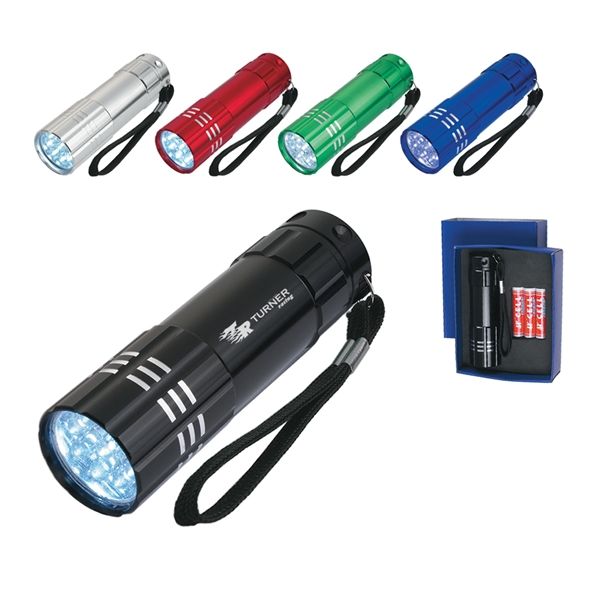 Aluminum LED Flashlight with Strap