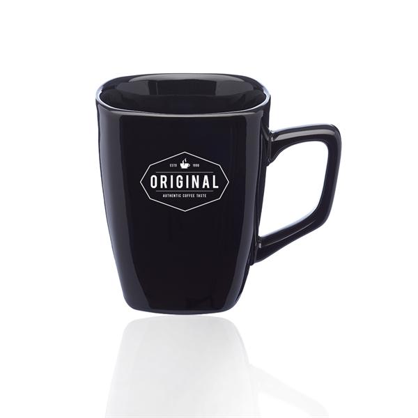 12 oz. Ares Glossy Ceramic Latte Mug
