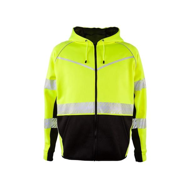 Kishigo Premium Black Series® Full-Zip Hooded Sweatshirt