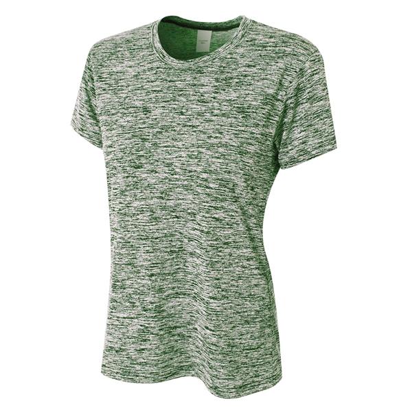 A4 Ladies' Space Dye Tech T-Shirt