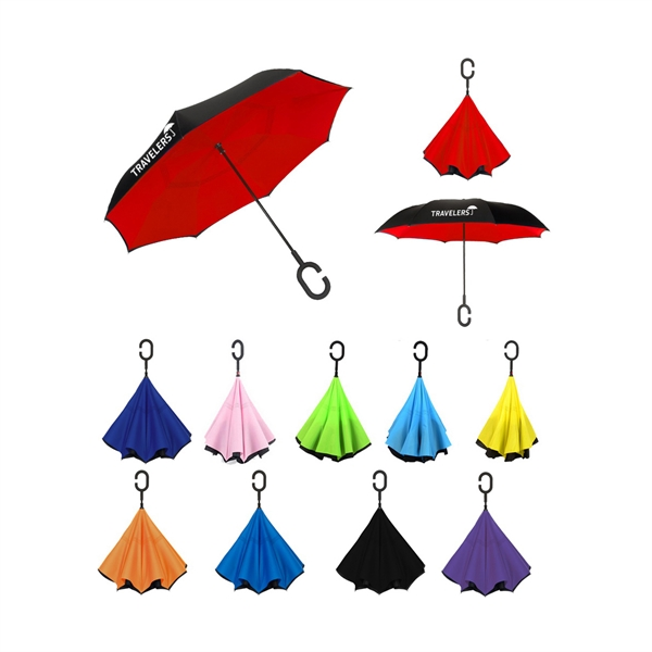 Deluxe Inverted Reverse Umbrella - IN STOCK NOW!!!
