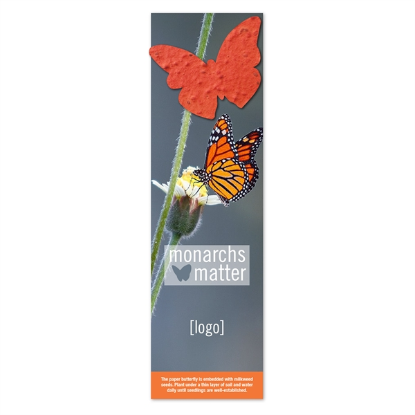 Save The Monarchs Seed Paper Shape Bookmark