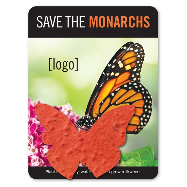 Save The Monarchs- Mini Gift Pack With Seed Paper Shape