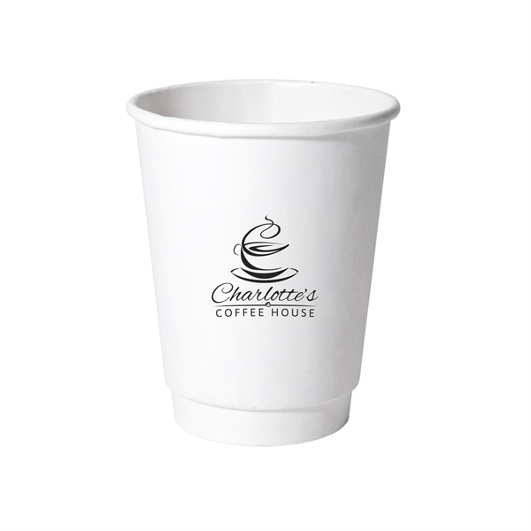 12 oz Double Wall Insulated Paper Cup White
