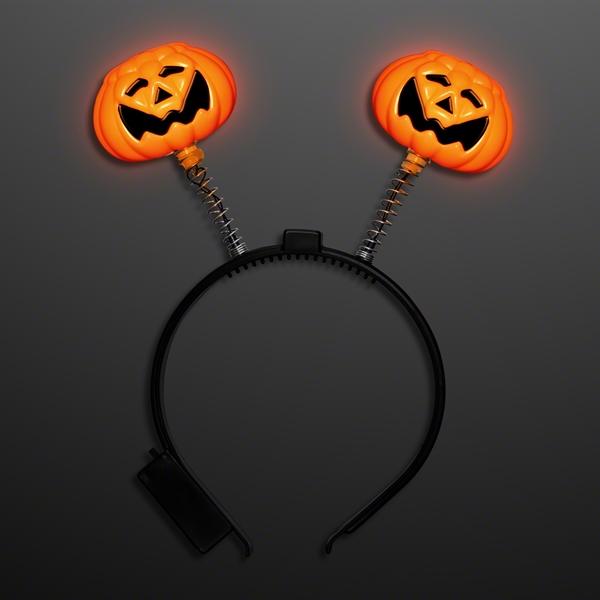 Light up pumpkin head bopper