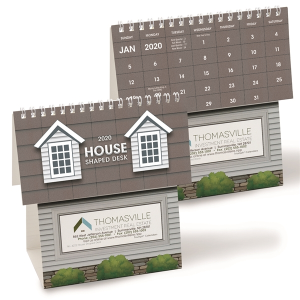 House Shaped Desk 2020 Calendar