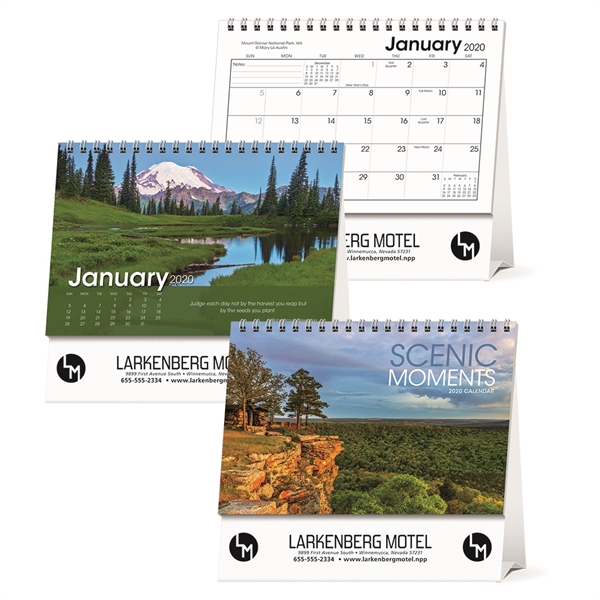 Scenic Moments Large Desk 2020 Calendar