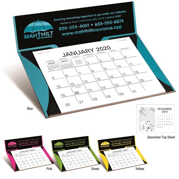 Curved Memo Desk 2020 Calendar