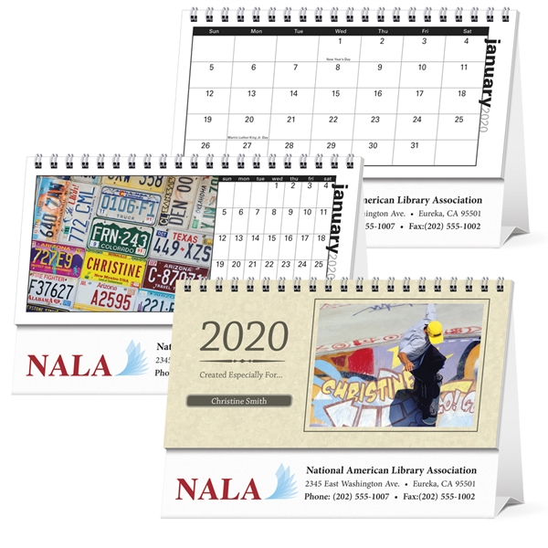 Your Name Here 2020 Desk Calendar