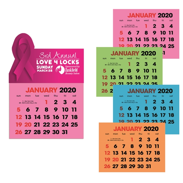 Full Color Stick Up, Colored Paper Grid 2020 Calendar