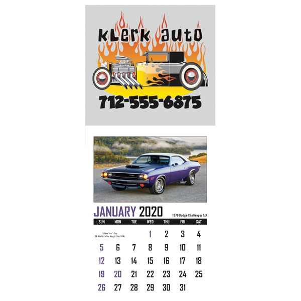 Full Color Stick Up, Memorable Muscle Grid 2020 Calendar