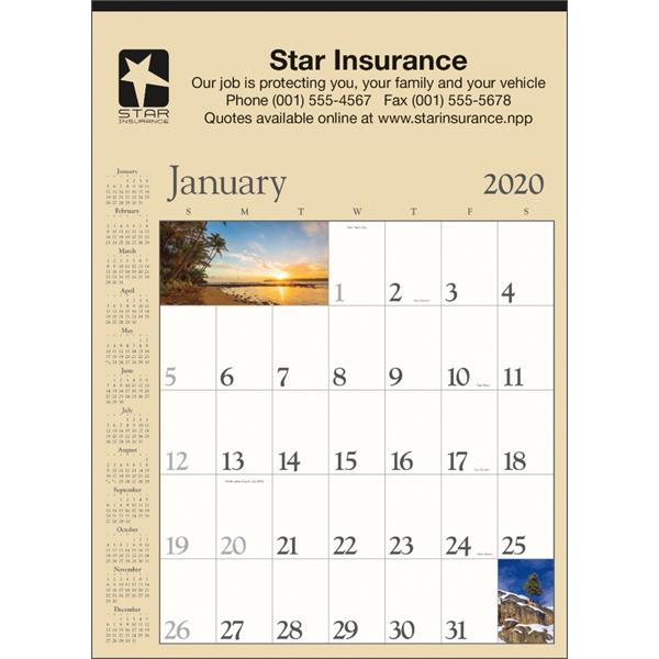 Decorator Memo (Tan) 2020 Calendar