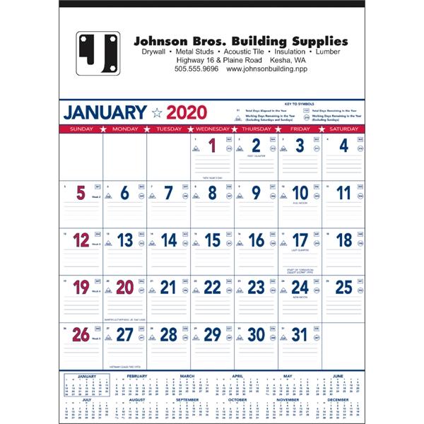 Patriotic Contractor Memo 2020 Calendar