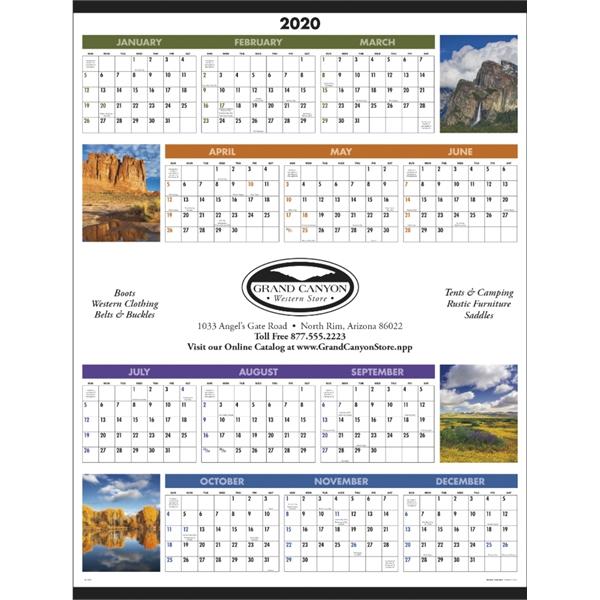 Scenic Span-A-Year 2020 Calendar