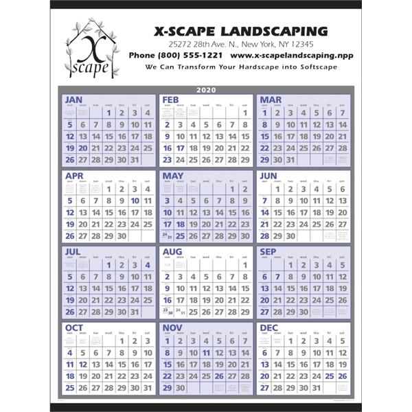 Span-A-Year 2020 Calendar