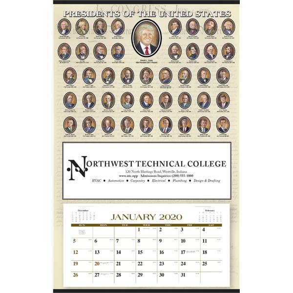 Presidents Hanger 12-Month 2020 Calendar