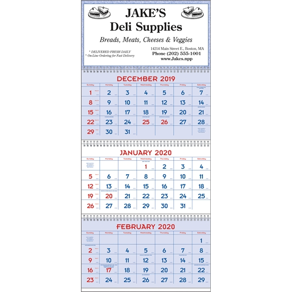 Commercial Planners 2020 Calendar - Red & Blue