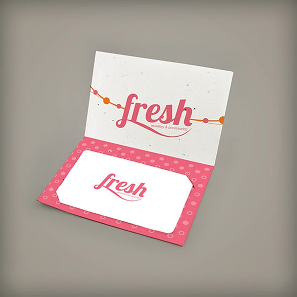 Small Folded Gift Card Holder - Single Sided