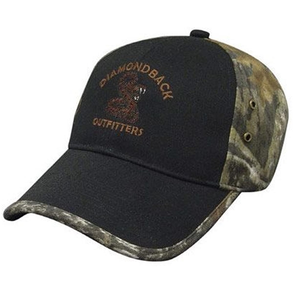 Solid Front Camo Back Cap - Structured