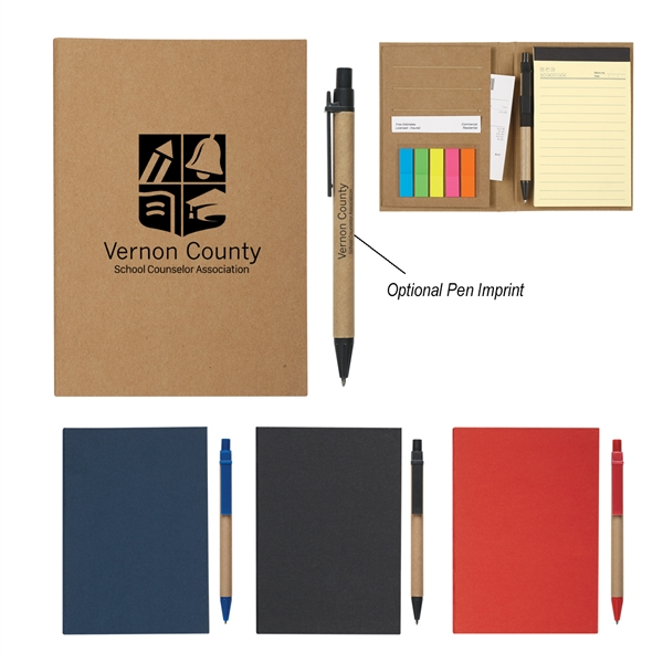 MeetingMate Notebook With Pen And Sticky Flags