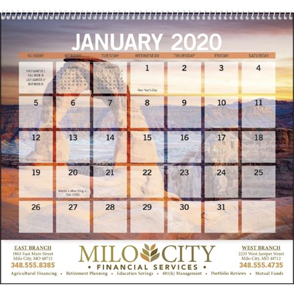 Scenic Small Memo 2020 Calendar