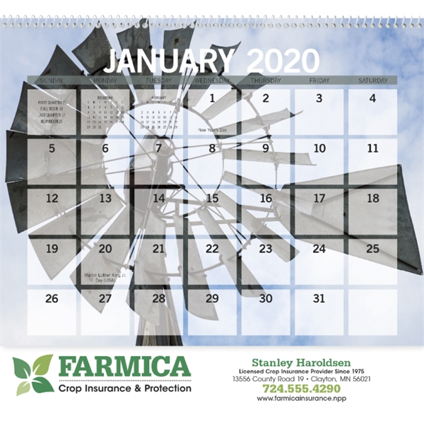 Agriculture Small Memo 2020 Calendar