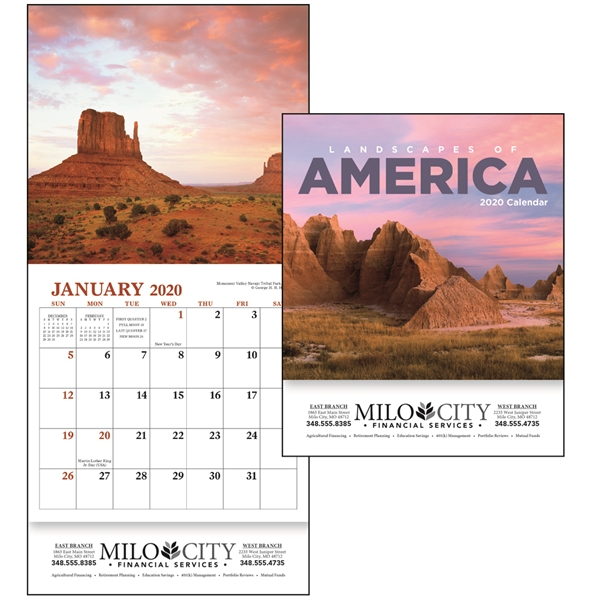 Landscapes of America Mini 2020 Appointment Calendar